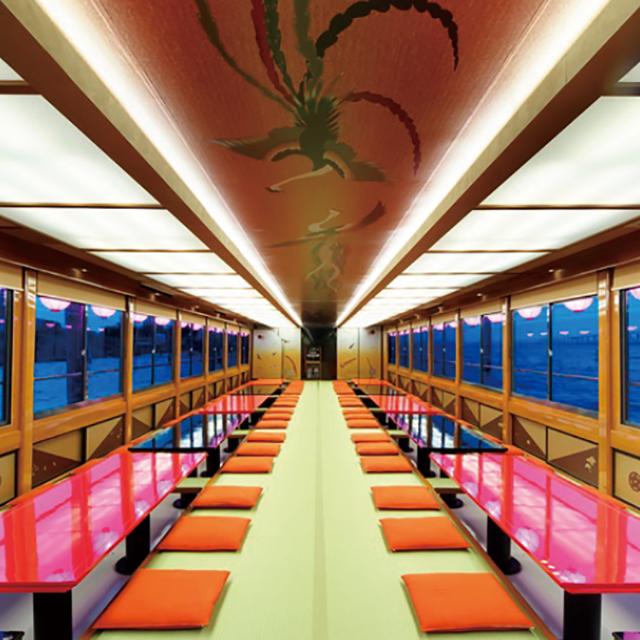 【屋形船プラン】屋形船とアクアシティお台場の屋上で「STAR ISLAND」1.2万発の花火を堪能!!!