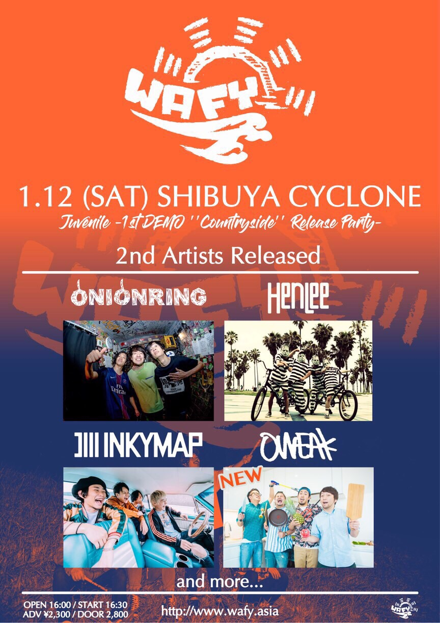 """WAFY 1st Demo """"Countryside"""" Release Party"""