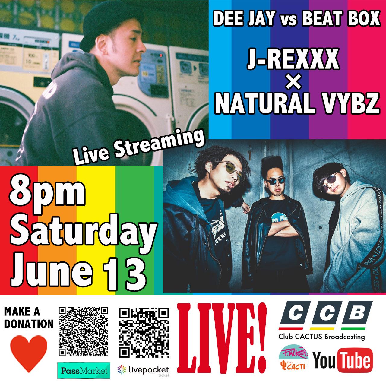 J-REXXX × NATURAL VYBZ - Live Stream