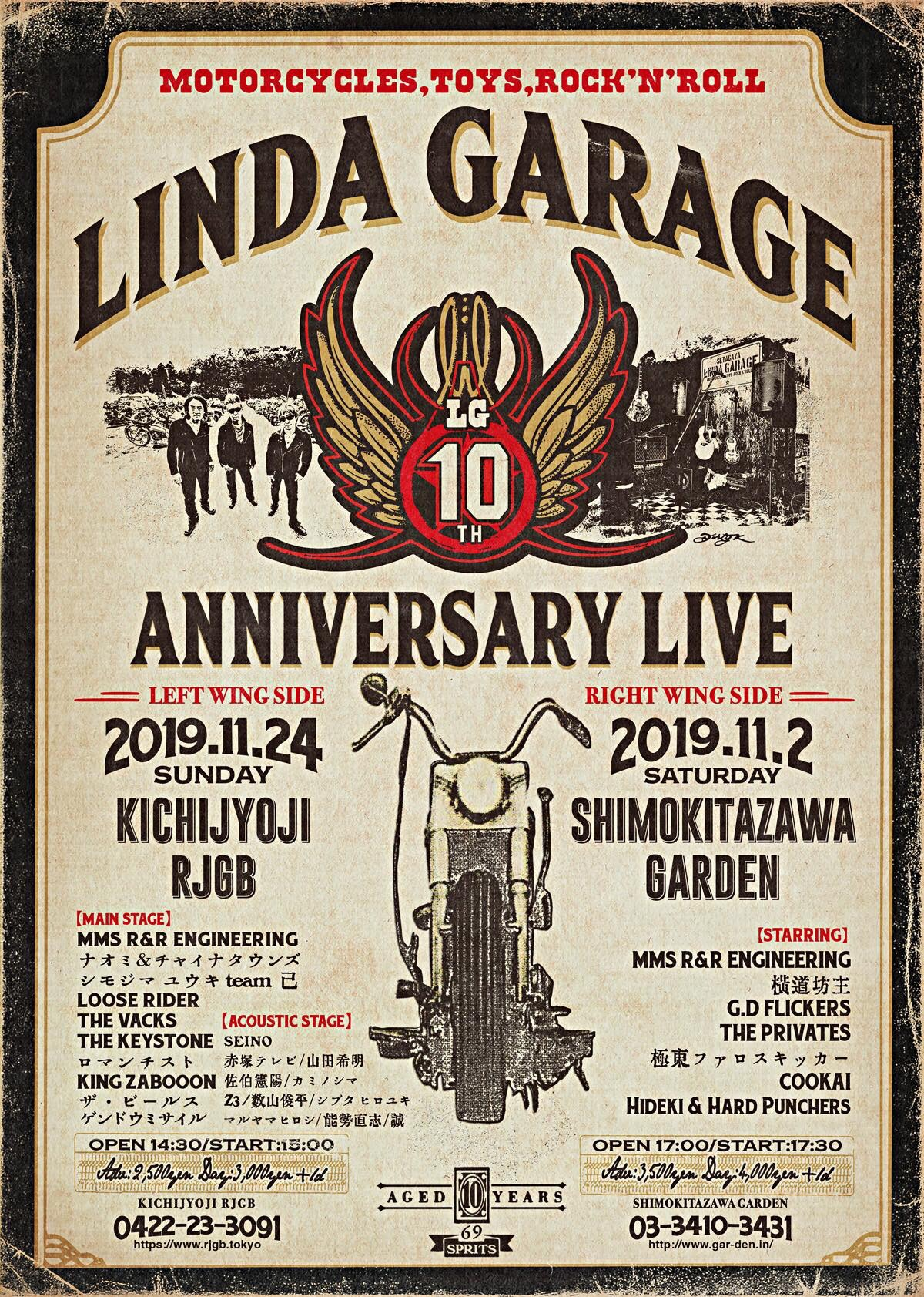 LINDA GARAGE 10th Anniversary Live 〜Right Wing Side〜