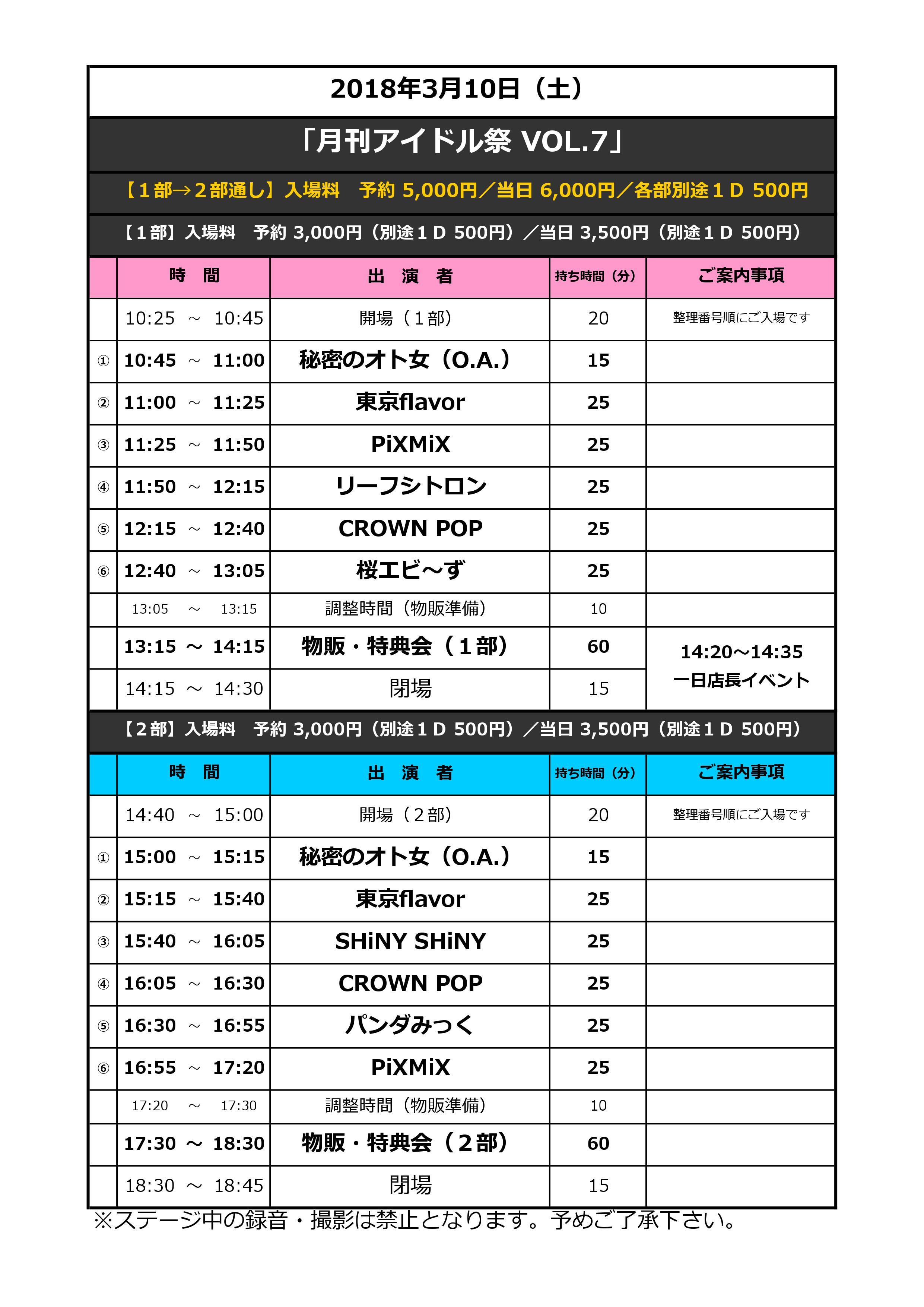 月刊アイドル祭 VOL.7