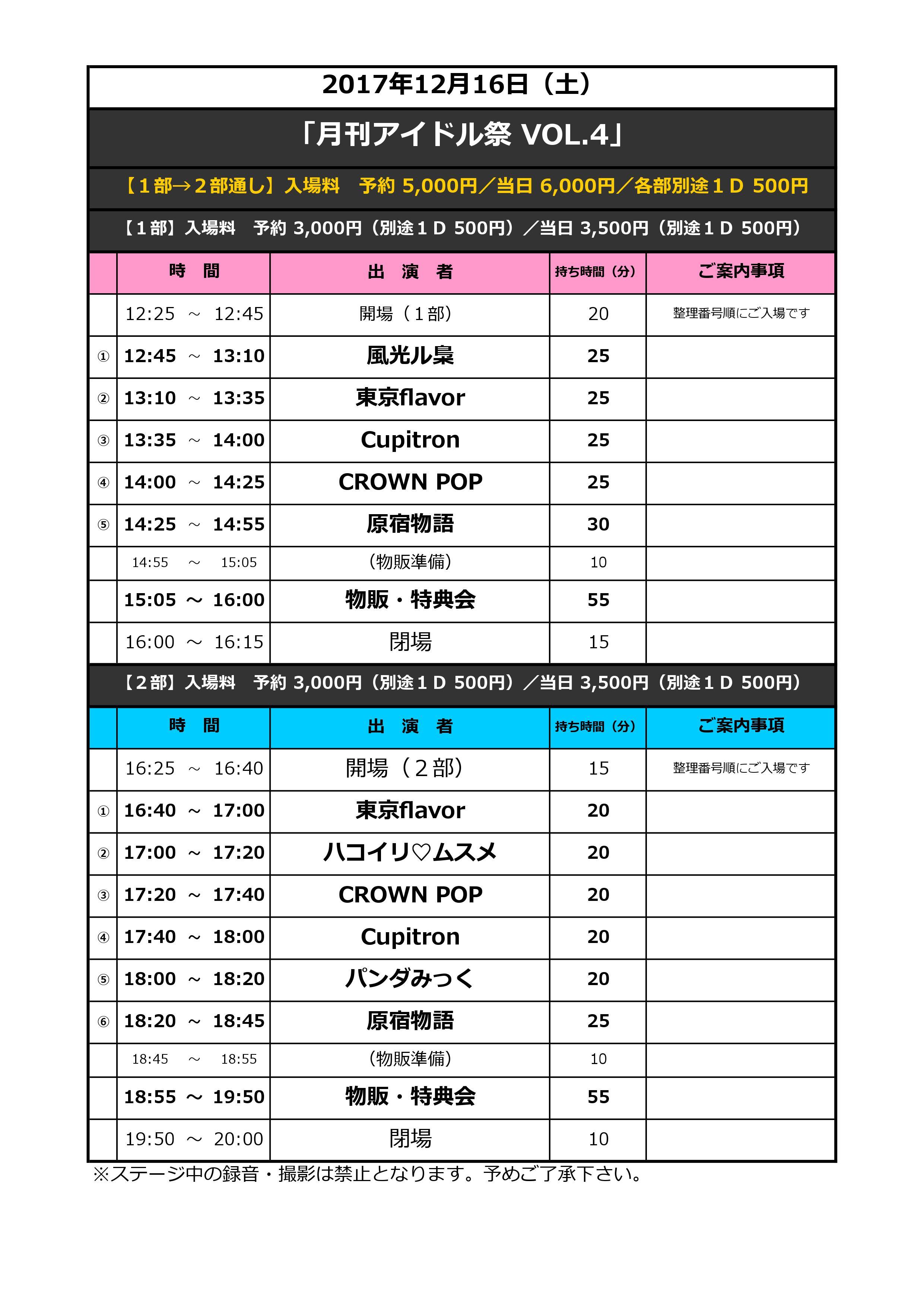 月刊アイドル祭 VOL.4