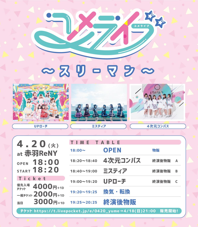 2021/4/20(火) 『ユメライブ〜スリーマンライブ〜』赤羽ReNY