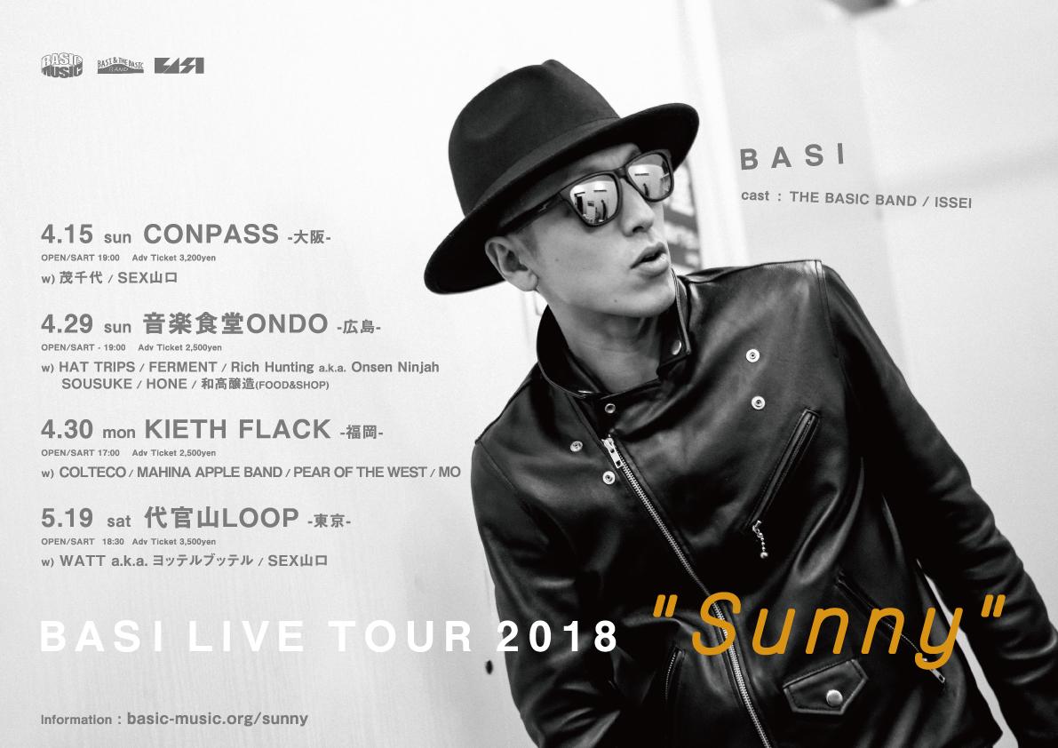 BASI LIVE TOUR 2018 ''Sunny'' in Osaka
