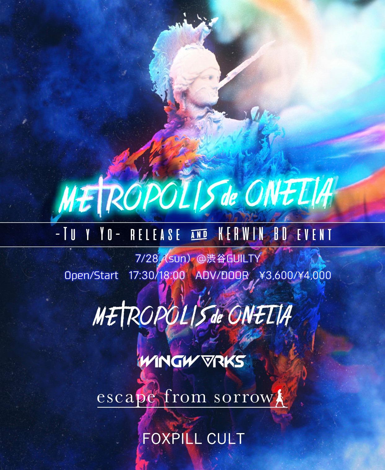 METROPOLIS de ONELIA  -Tu y Yo- release & KERWIN BD event
