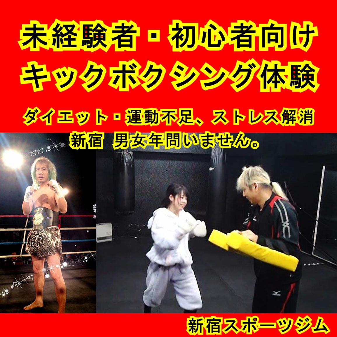 新宿 キックボクシング体験レッスン 60分