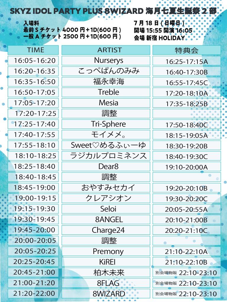 『SKYZ IDOL PARTY PLUS 8WIZARD海月七夏生誕祭』