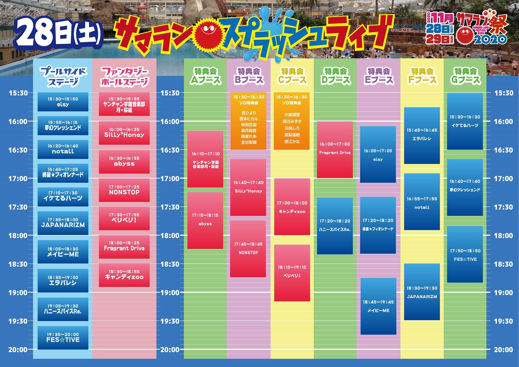 2020/11/28『サマランスプラッシュライブ』最前オプションチケット