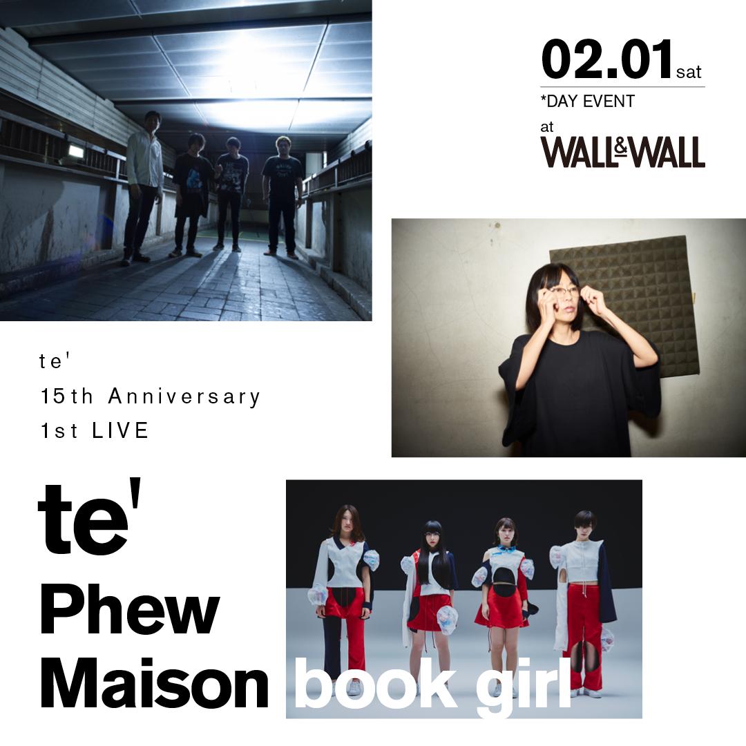 te' × Phew × Maison book girl[te' 15th Anniversary 1st LIVE]