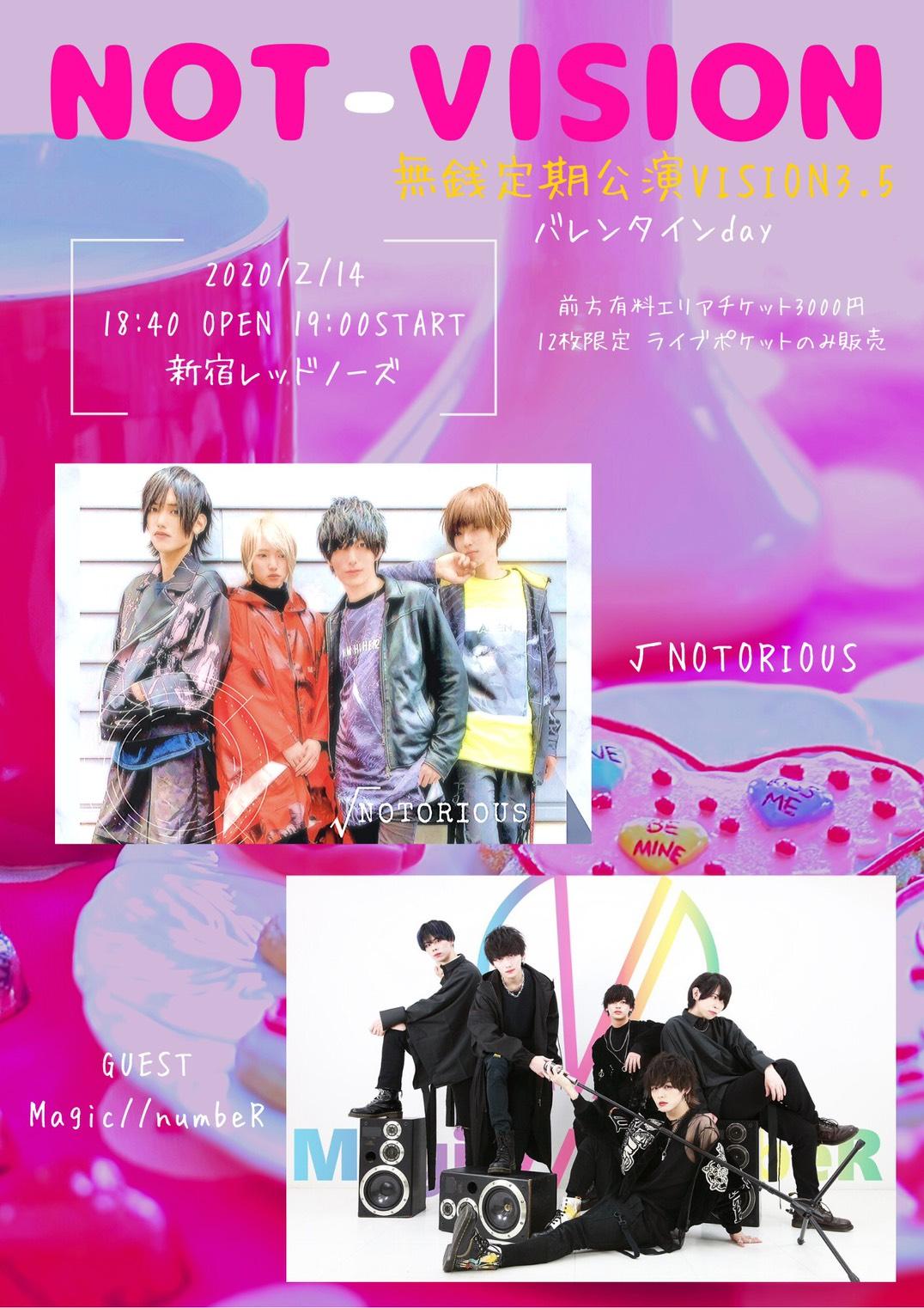 NOT-VISION無銭定期公演3.5~Magic//numbeR初登場!バレンタインday~