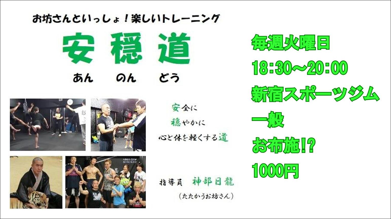 ストレッチ&体幹トレーニング&護身術 お坊さんの楽しいトレーニング 安穏道