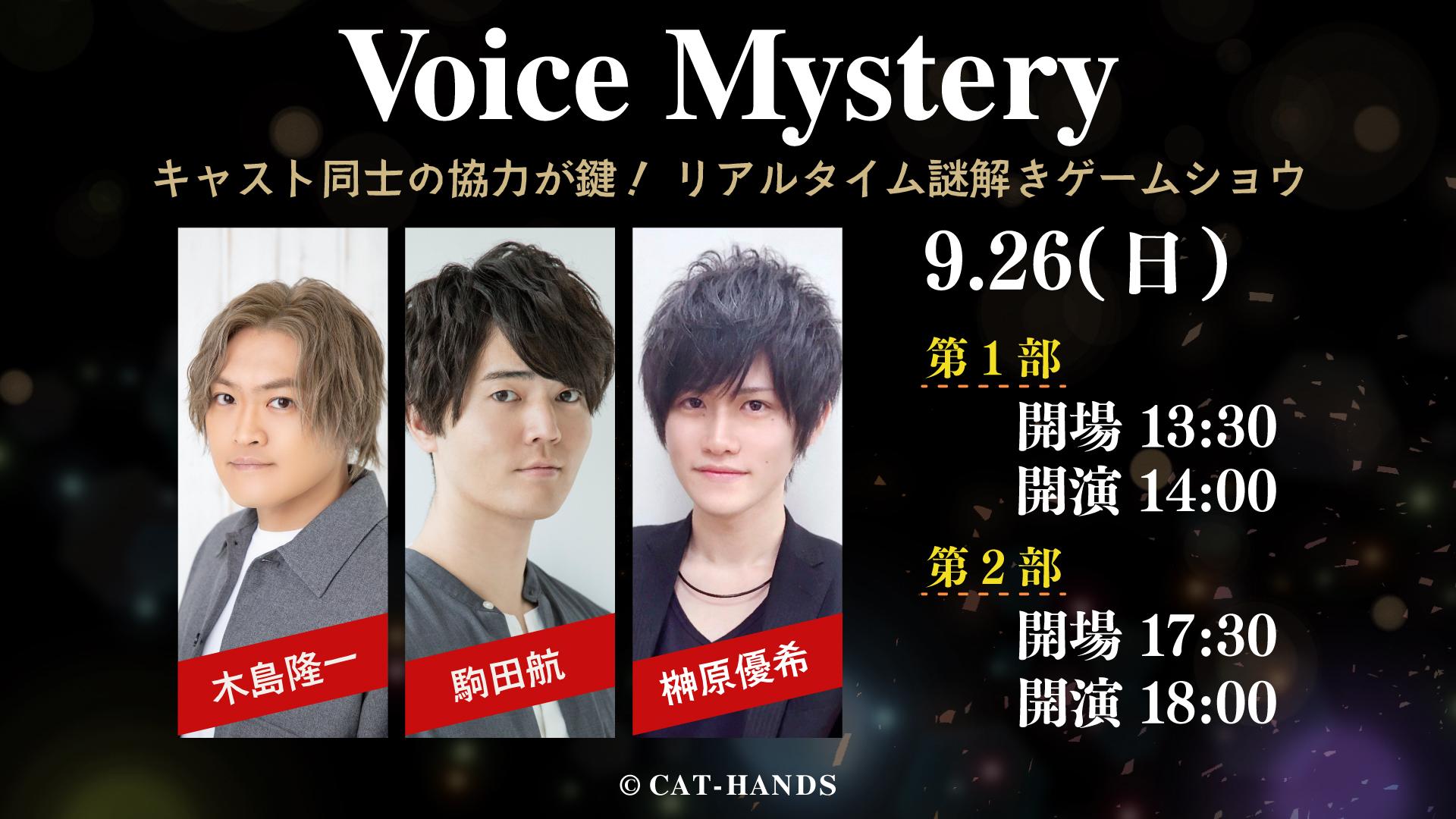 """""""リアルタイム謎解きゲームショウ"""" Voice Mystery 2nd Stage"""
