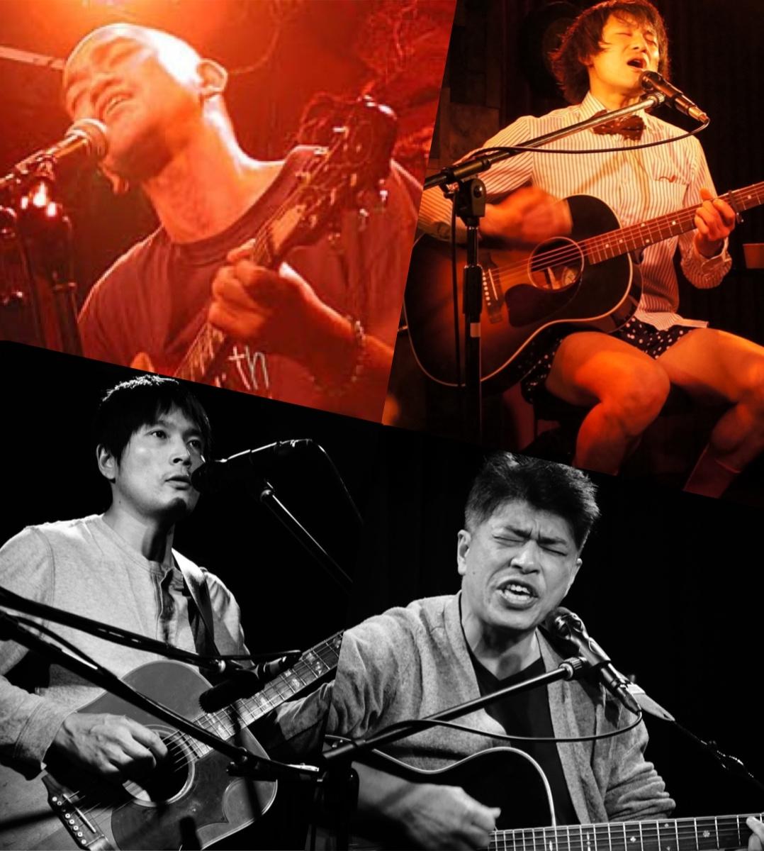 『TOKYO CROSSROAD BLUES』出演:Shanti Tetsu / 泥水すする / 早川理史 / 栁下学