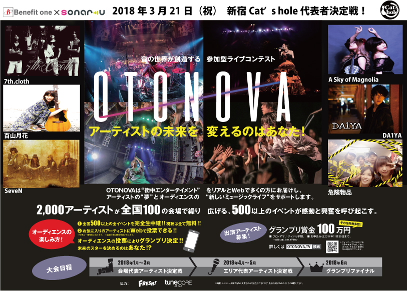 OTONOVA 新宿Cat's hole 代表者決定戦!