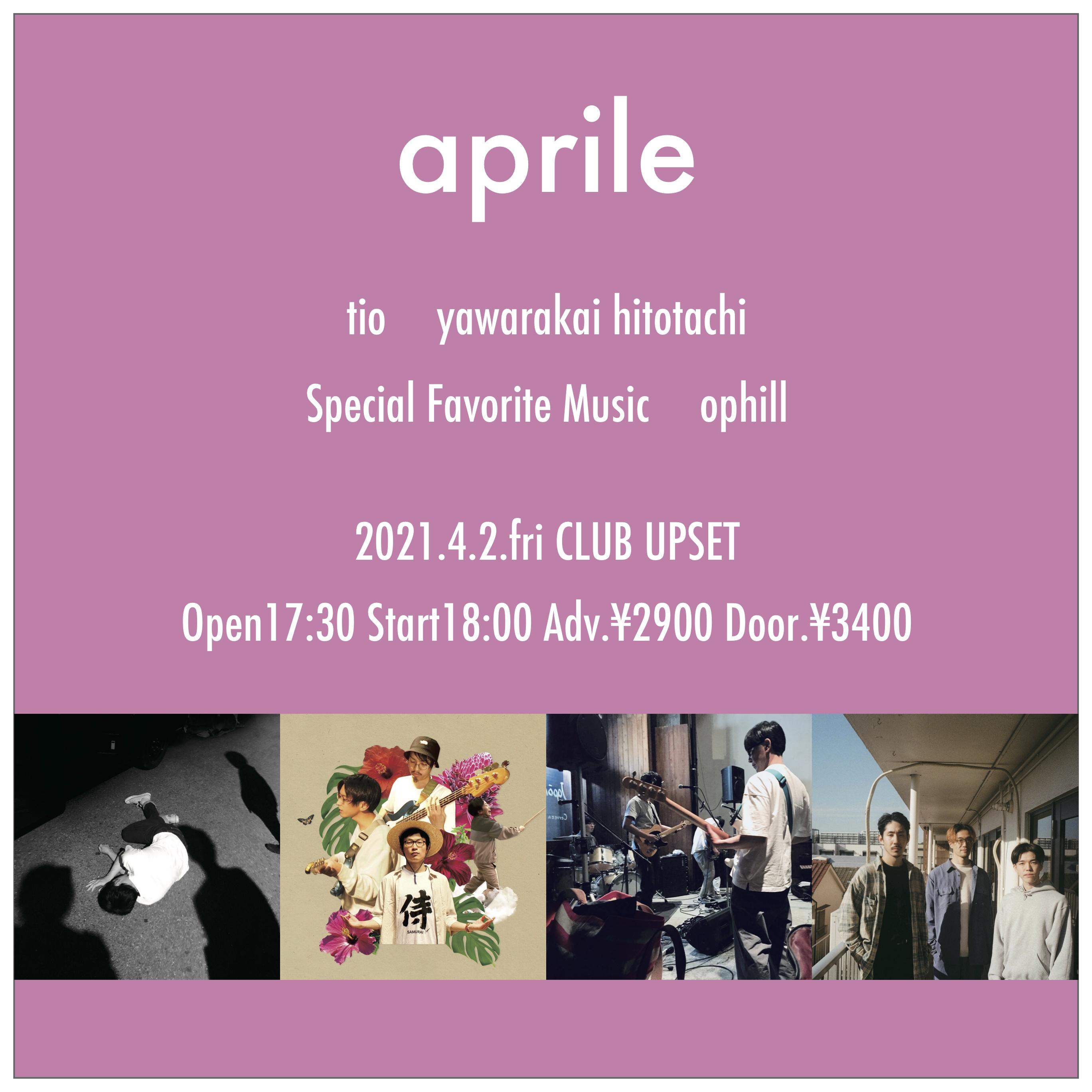【CLUB UPSET】2021/4/2(金) aprile ライブチケット