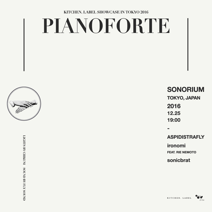 PIANOFORTE - KITCHEN. LABEL SHOWCASE 2016