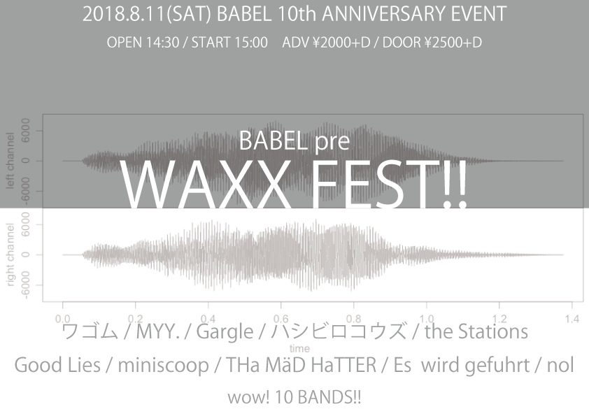 [ BABEL10th Anniversary BABEL pre. WAXX FEST! ]