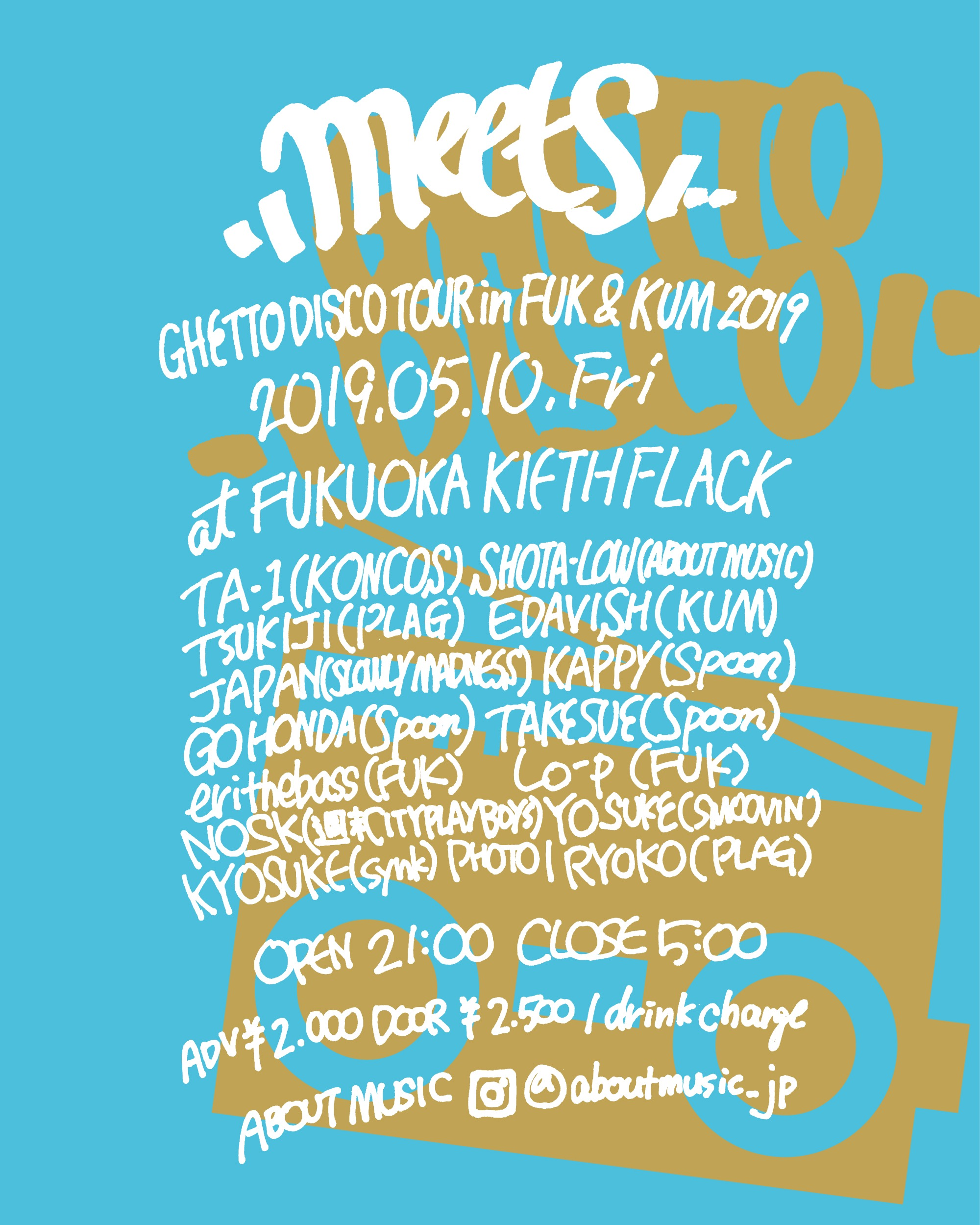 meets - GHETTO DISCO TOUR 2019 in FUK&KUM -