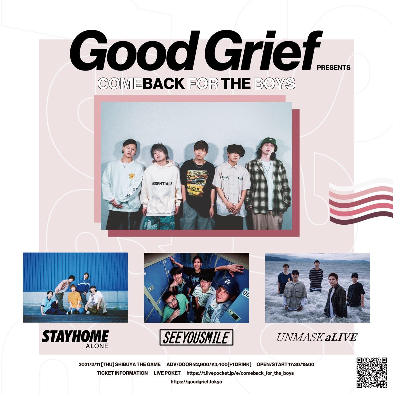 Good Grief pre. COMEBACK FOR THE BOYS