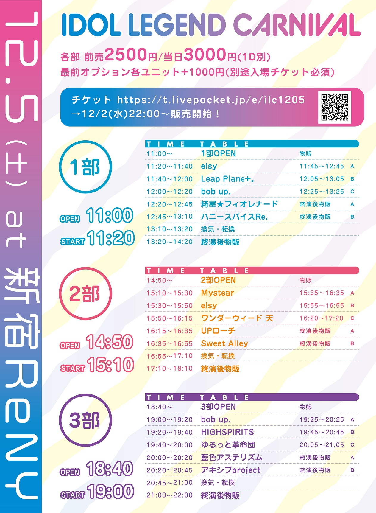 2020/12/5(土) 『IDOL LEGEND CARNIVAL』@新宿ReNY