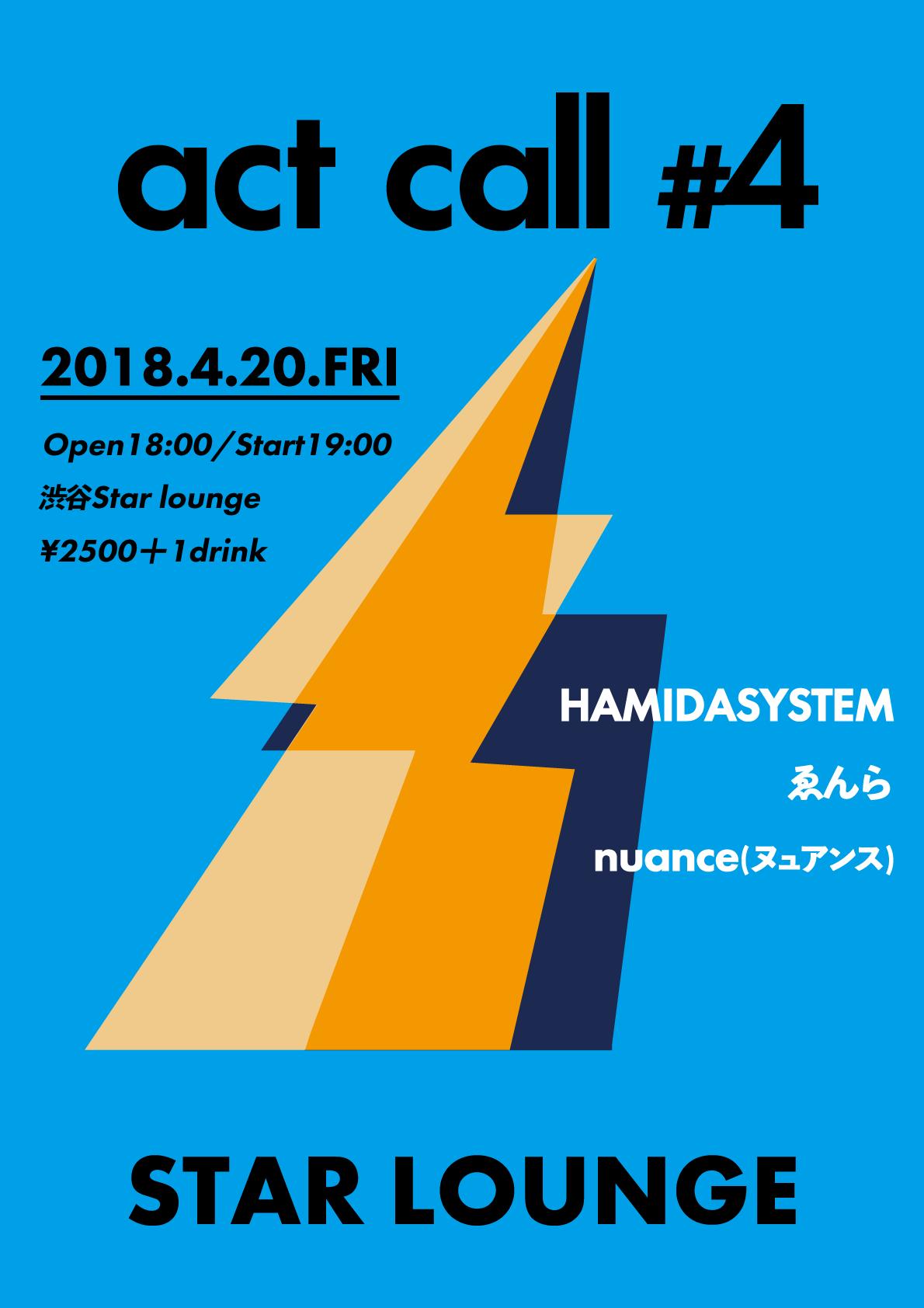 HAMIDASYSTEM presents「act call #4」