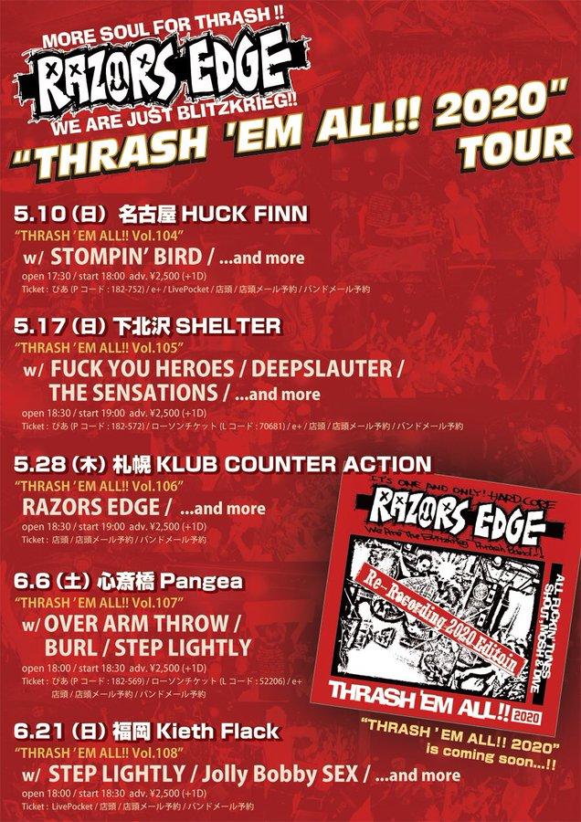 "RAZORS EDGE ""THRASH 'EM ALL!!2020 TOUR〜THRASH 'EM ALL vol.108"""