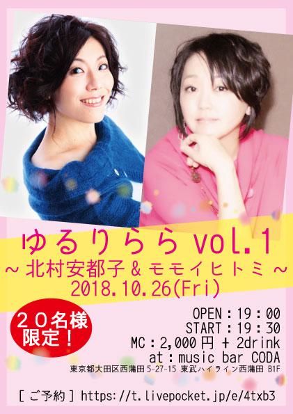 ゆるりらら vol.1〜北村安都子&モモイヒトミ〜
