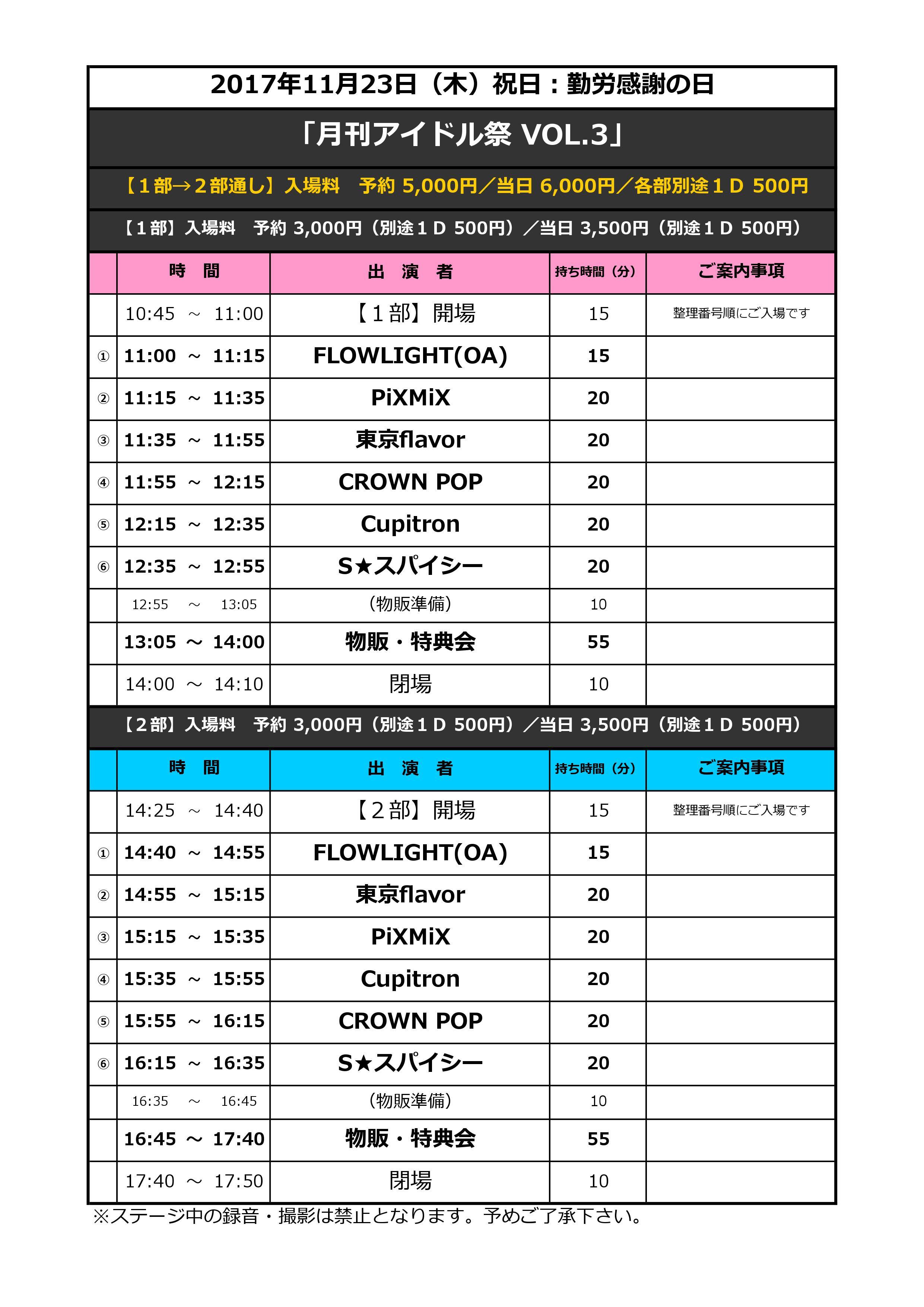 月刊アイドル祭 VOL.3