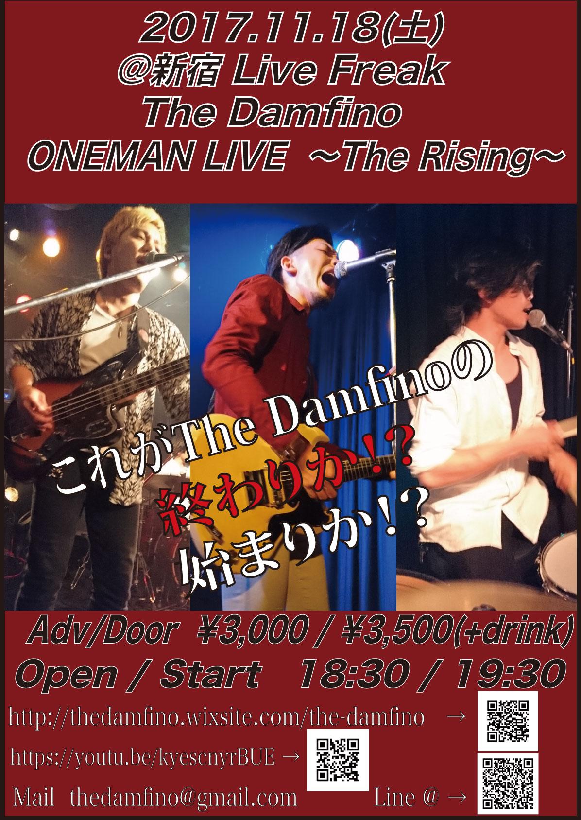 The Damfino  ONEMAN LIVE!! ~The Rising~