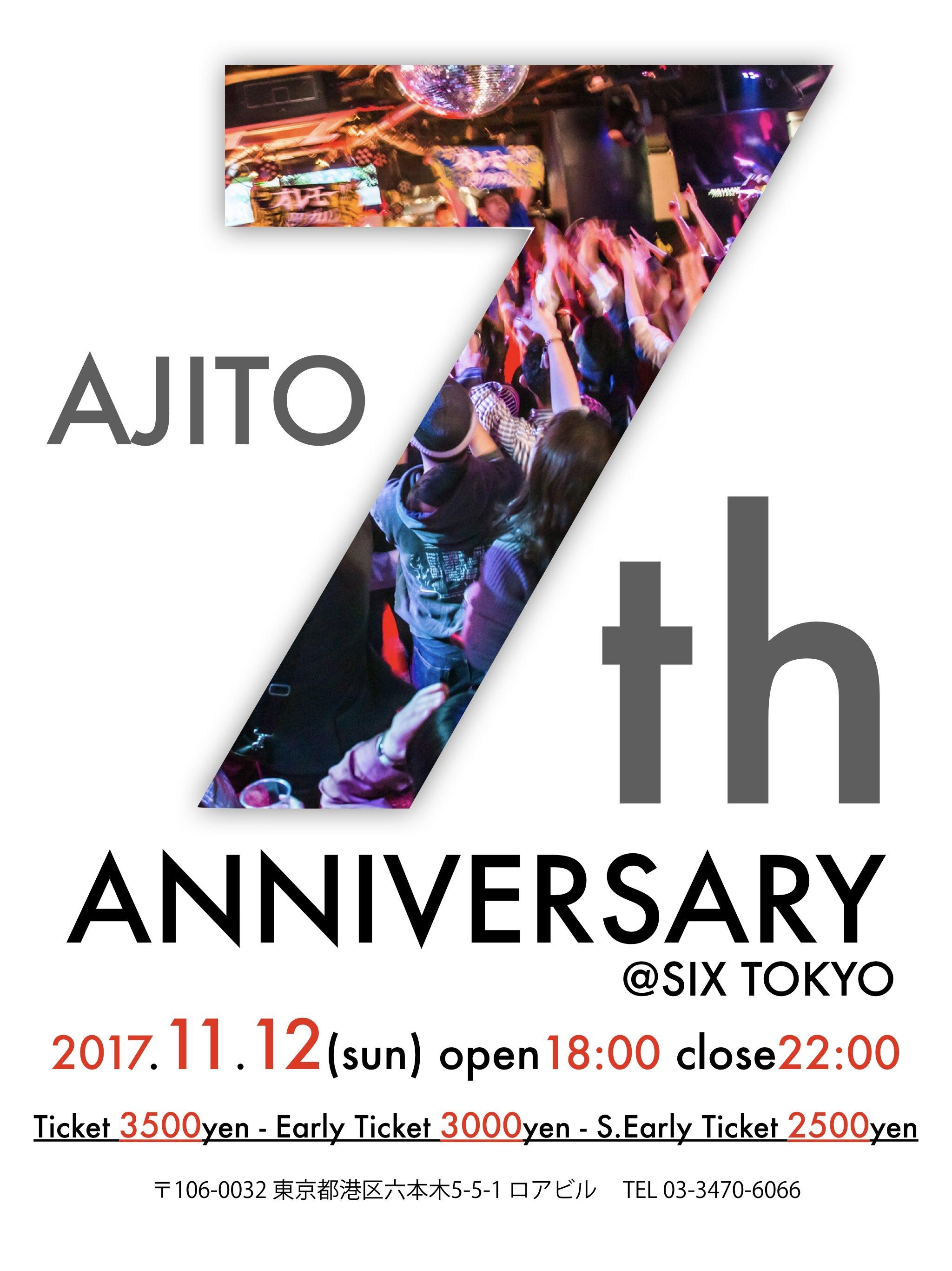 11/12(sun) AJITO 7th Anniversary