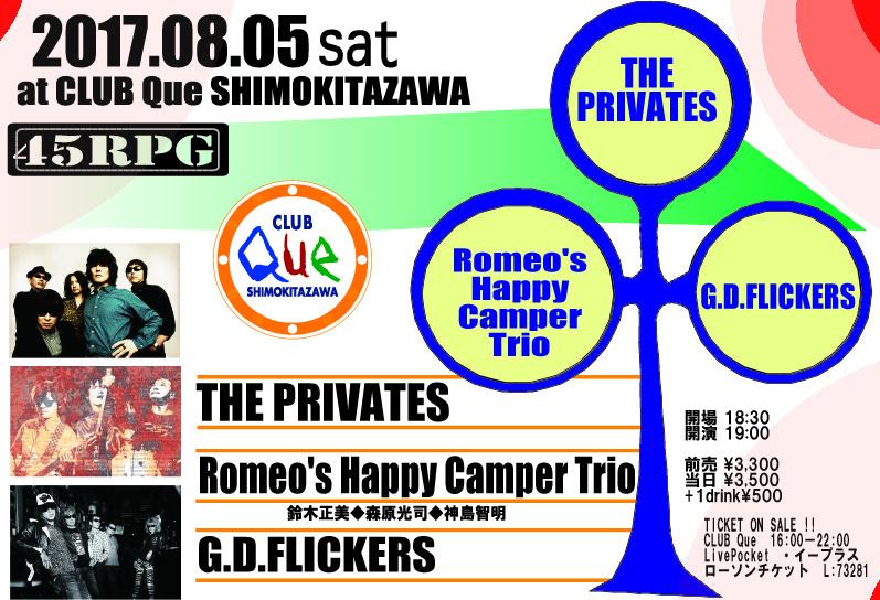 """THE PRIVATES/Romeo's Happy Camper Trio/GD FLICKERS  : """"45RPM"""""""
