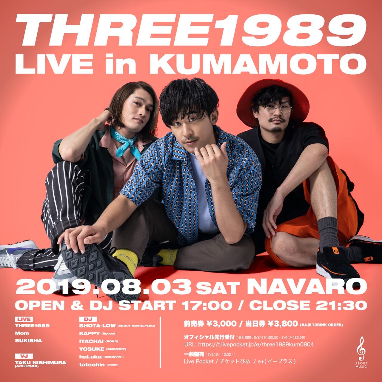 THREE1989 LIVE in KUMAMOTO