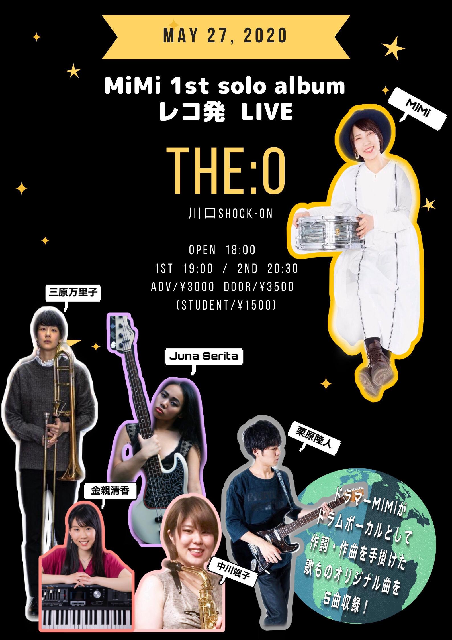 MiMi 1st solo album [THE:O]アコースティック紙芝居ライブでお届けします